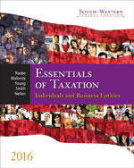 South-Western Federal Taxation 2016: Essentials of Taxation: Individuals and Business Entities, 19th Edition