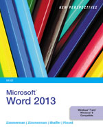 New Perspectives on Microsoft® Word 2013, Brief