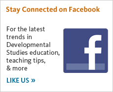 For the latest trends in Developmental English education, teaching tips, and more, like us on Facebook.