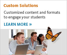 Cengage Learning custom solutions engage your students. Learn more.