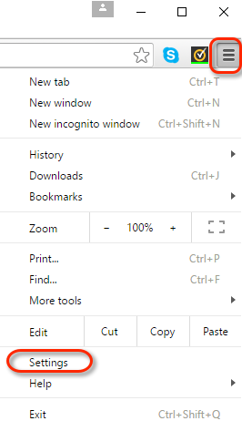 how to allow pop ups on chrome for certain sites